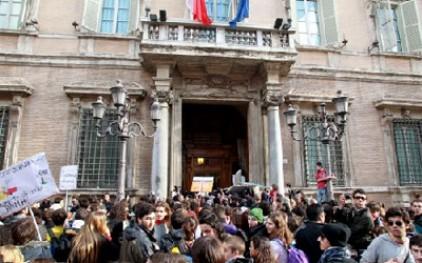 В Риме бастуют студенты и преподаватели