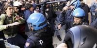 Антиправительственная демонстрация в Риме