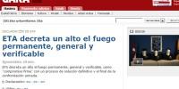 Баскские террористы объявили о полном перемирии