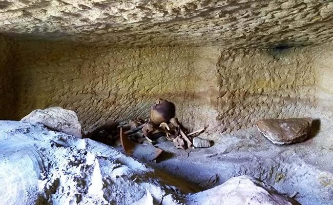 В Египте обнаружены 12 гробниц со скелетами детей и животных