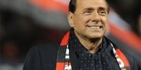 Футболисты «Милана» отмечают 25 лет президентства в клубе Сильвио Берлускони