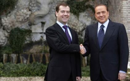 Медведев проводит переговоры с Берлускони