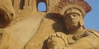 «Великая римская империя» на выставке песчаных скульптур в Москве