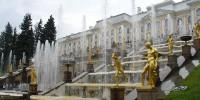 Растрелли - на празднике фонтанов в Петергофе