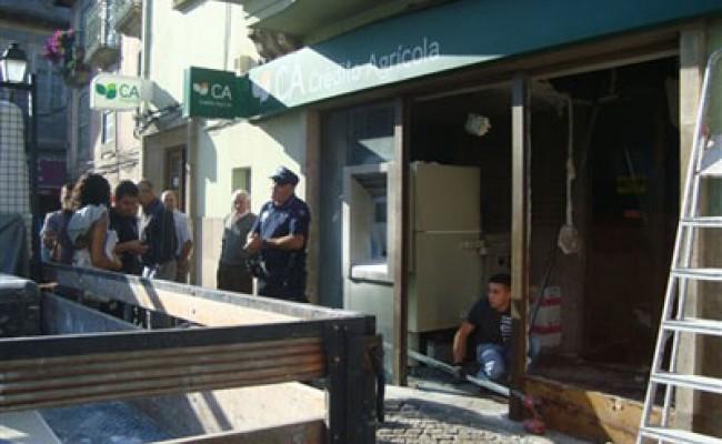 В Португалии взорвали банкомат