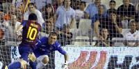 «Барселона» ушла от поражения в игре ЧИ по футболу с «Валенсией»