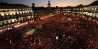 Десятки тысяч человек приняли участие в акции протеста в Мадриде