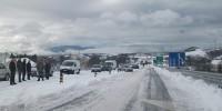 В горах Серра де Эштрела выпал снег