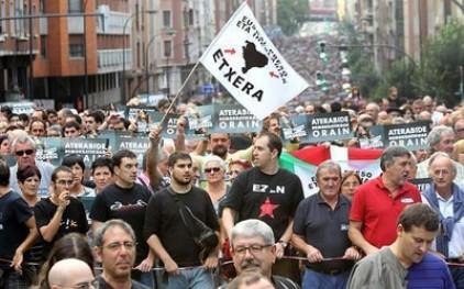 Многотысячная демонстрация басков прошла в испанском городе Бильбао