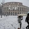 Холодный циклон стал причиной сильного снегопада в Риме