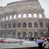 Жизнь в Риме практически парализована из-за снегопада