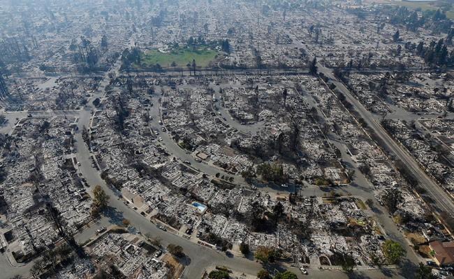 Дрон снял сгоревший город в Калифорнии