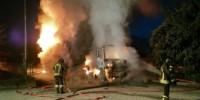 Мужчины подожгли грузовик итальянского работодателя