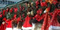 Испания: рождественская ярмарка Santa Llúcia в Барселоне