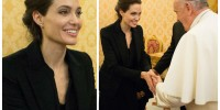 Италия: Папа Римский встретился с Анджелиной Джоли