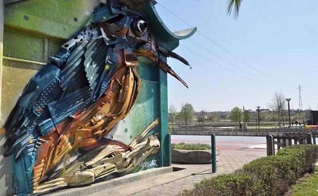 Португалия: Фестиваль городского искусства в Эштаррежа