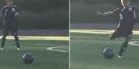 Португалия: сын Роналду забил мяч со штрафного в матче детских команд