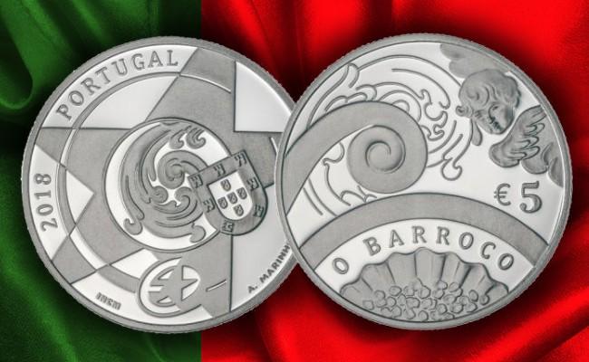 Португалия выпускает в обращение памятные монеты Искусство Барокко и Рококо