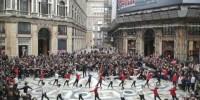 Италия: рекордный Флешмоб в Галерее Умберто