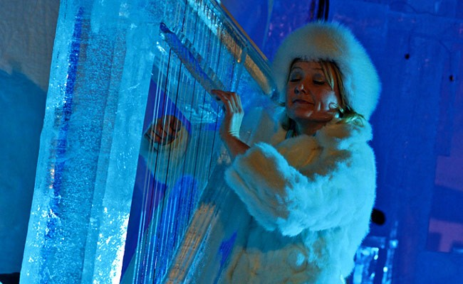 Италия: фестиваль ледяных музыкальных инструментов
