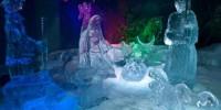 Италия: выставка рождественского презепе из льда в Неаполе