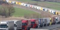 Испания: в Барселоне прошел «медленный марш» грузовиков