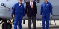 Король Испании снова сел за штурвал вертолета
