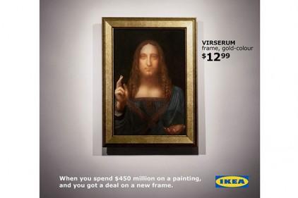IKEA предложила для самой дорогой картины мира раму за 13 долларов