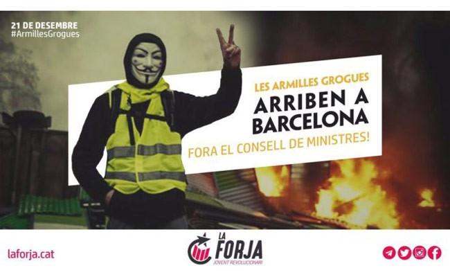 Испаний: «Желтые жилеты» добрались до Барселоны
