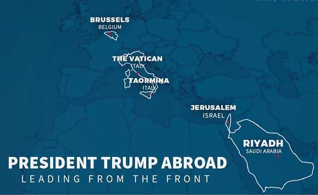 Трамп обнародовал на фейсбук карту с неверными границами Италии
