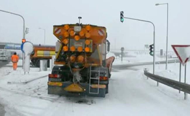 В Словакии из-за гололеда столкнулись около 40 автомобилей