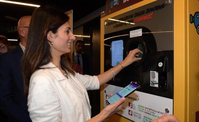 В Италии фандоматы меняют пластиковых бутылки на билеты в метро