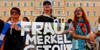 Десятки тысяч человек протестуют в Афинах против визита Меркель