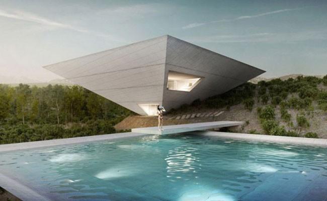 В Испании построят дом в форме перевернутой пирамиды