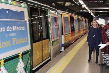 Испания: мадридское метро запускает «рождественский поезд»