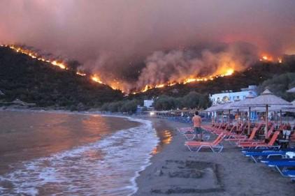 Лесные пожары в Европе