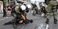 Более 200 протестующих против визита Меркель задержаны в Афинах