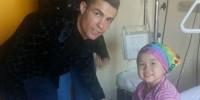 Португалия: Роналду навестил больную раком девочку