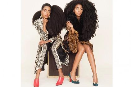 Сестры прославились благодаря своим необычным волосам