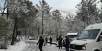 Италия: снегопад на Везувии