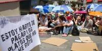 Полиция вновь разогнала протестующих в Мадриде