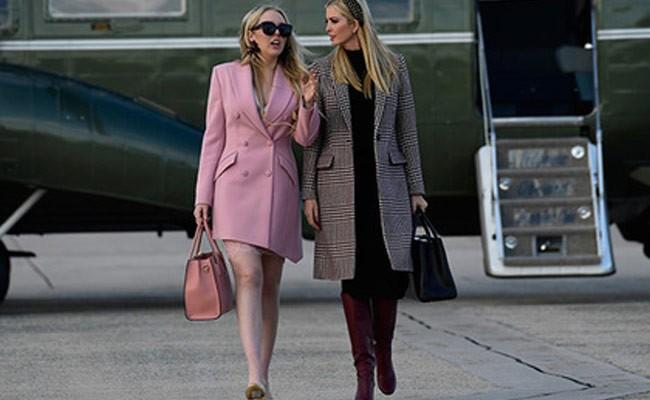 Дочь Трампа вышла в свет с ценником на туфле