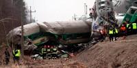Крупная железнодорожная катастрофа в Польше