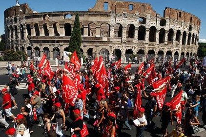 Свыше 1,5 тысячи забастовок прошли в Италии в 2017 году