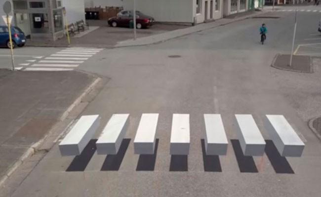 Установлен первый в Испании пешеходный переход в формате 3D