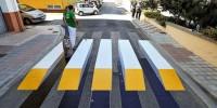 Испания: в Валенсии появилась «зебра» в 3D