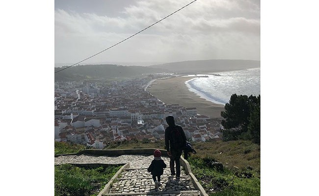 Юлия Зимина отдыхает в Португалии